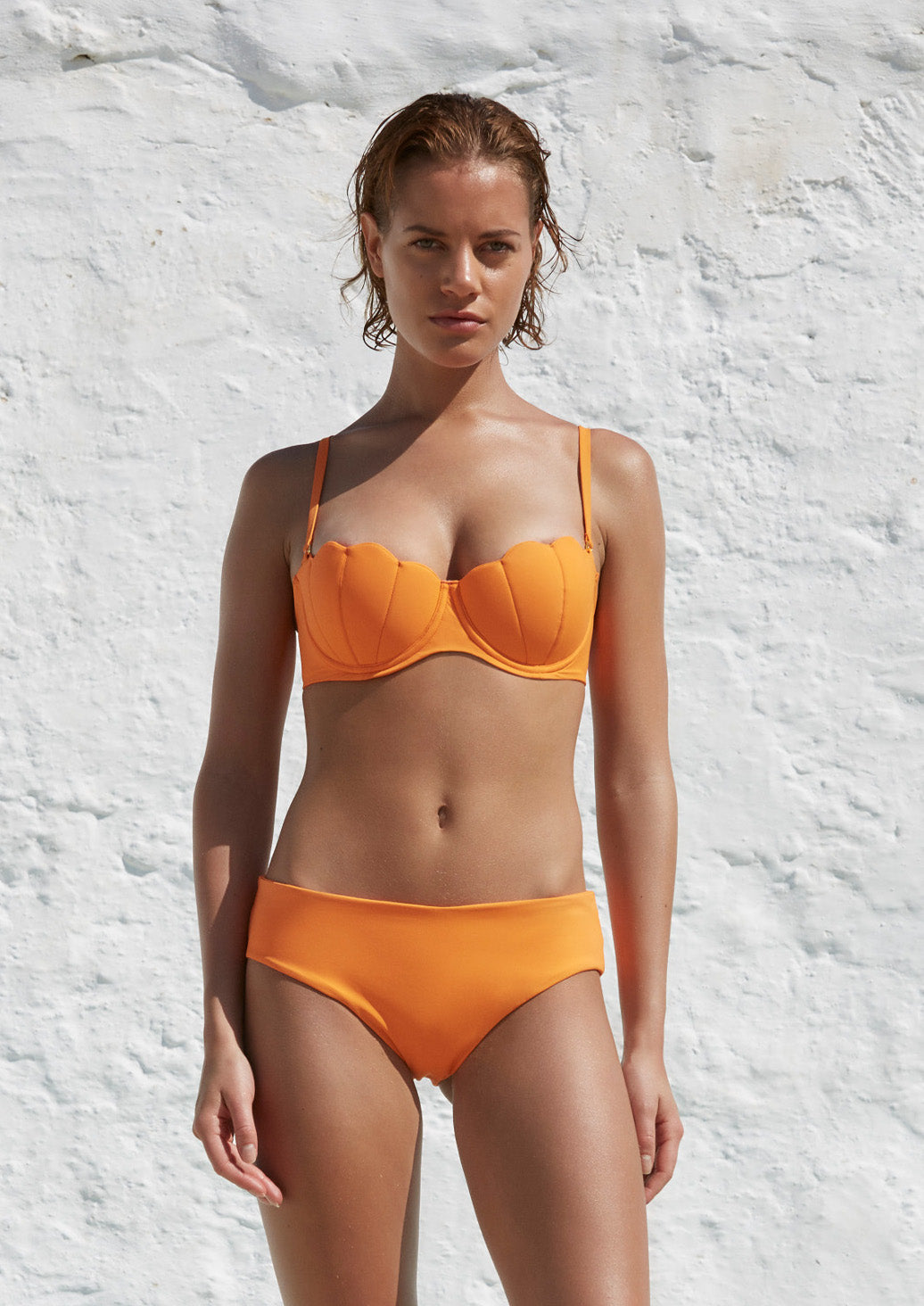 The Contour Bra Set - Mandarin