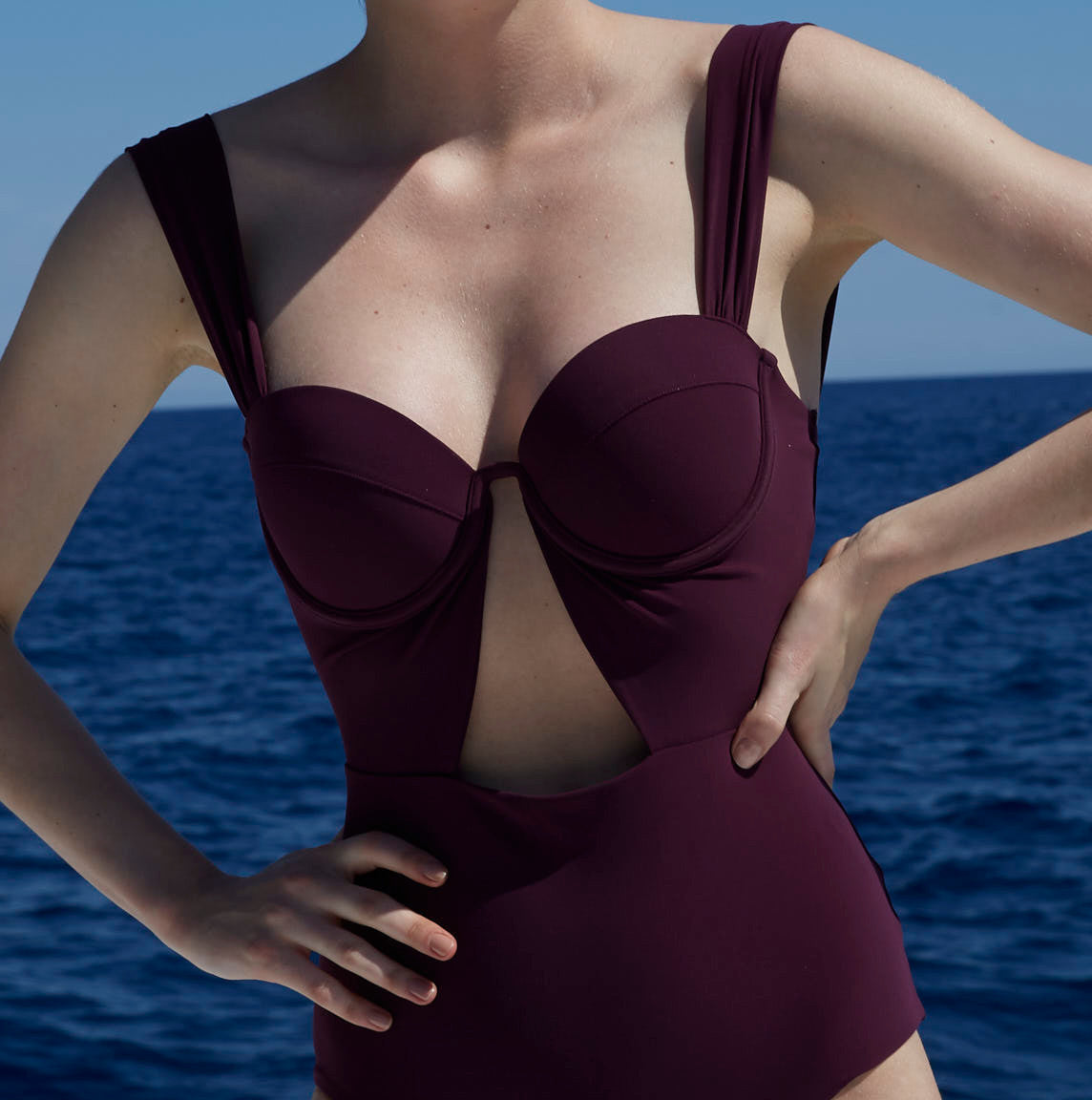 The Bustier Bodysuit - Plum