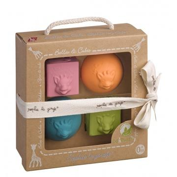 Sophie la Girafe - So'Pure 2 balls and 2 cubes set