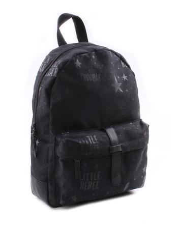 Kidzroom - Totally Black Little Rebel Backpack