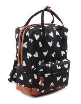 Kidzroom - Black & White Hearts White rectangle Backpack