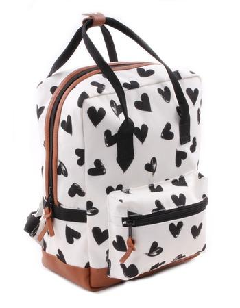 Kidzroom - Black & White Hearts Black rectangle Backpack