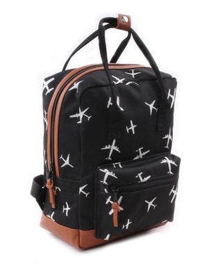 Kidzroom - Black & White Planes rectangle Backpack