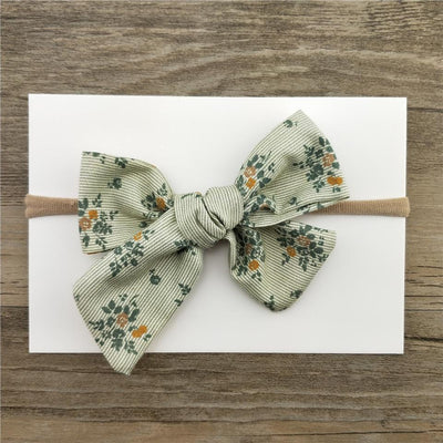Little Millie - Headband Florestine Bow Green
