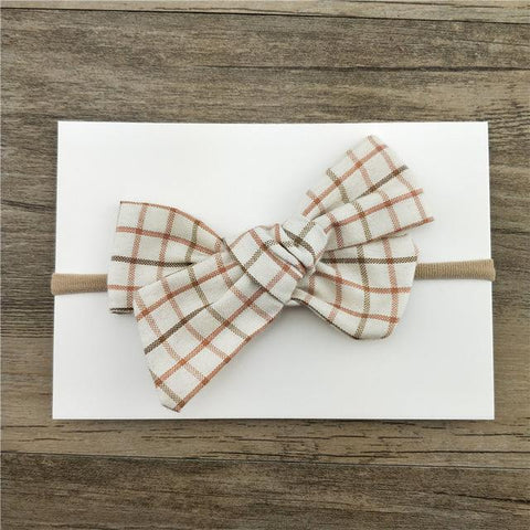 Little Millie - Headband Florestine Bow Beige