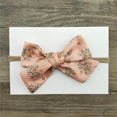 Little Millie - Headband Florestine Bow Orange