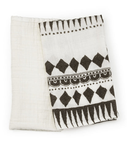 Elodie Details - Bamboo Muslin Blanket Set of 2 large Graphic Devotion