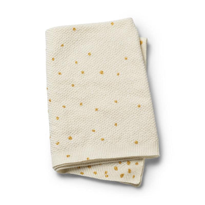 Elodie Details - Moss Knitted Blanket Gold Shimmer