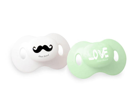 Pacifiers Elodie Details Mustache Love
