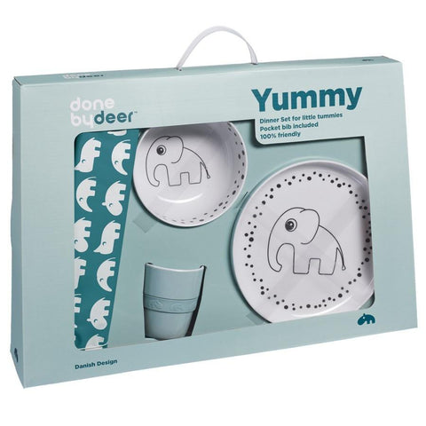 Done by Deer - Dots Yummy Dinner Set blue