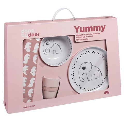 Done by Deer - Dots Yummy Dinner Set powder