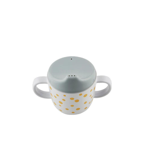 Done by Deer - Spout cup Happy dots gold/grey