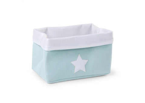 Childhome - CANVAS BOX FOLDABLE 32X20X20 CM MINT WHITE