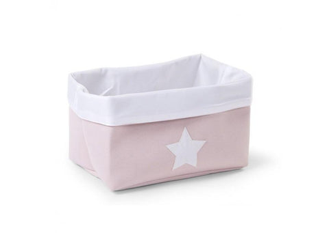 Childhome - CANVAS BOX FOLDABLE 32X20X20 CM SOFT PINK WHITE