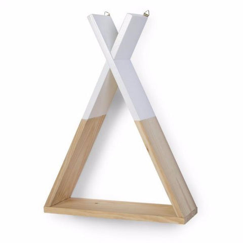 Childhome - WALL SHELF TIPI NATURAL WHITE