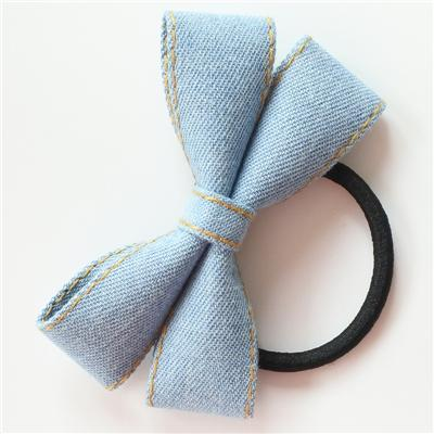 Little Millie - Hairband Ivy Bow Light Bluejeans