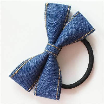 Little Millie - Hairband Ivy Bow Dark Bluejeans