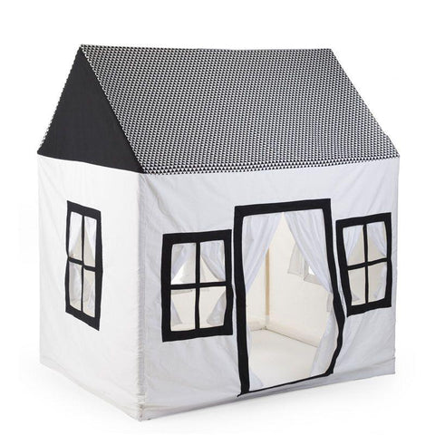 Childhome - COTTON BIG HOUSE BLACK&WHITE