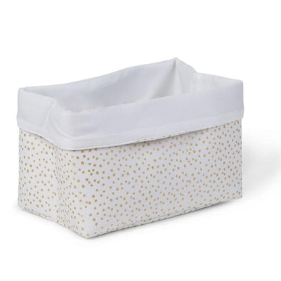 Childhome - CANVAS BOX 32x20x20 WHITE SMALL GOLD DOTS