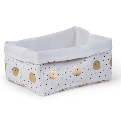 Childhome - CANVAS BOX 40x30x20 WHITE GOLD DOTS
