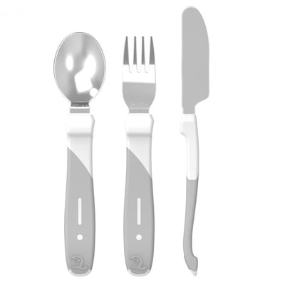 Twistshake - Cutlery Learning Set Stainless Steel White