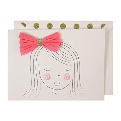Meri Meri - Girl with bow card