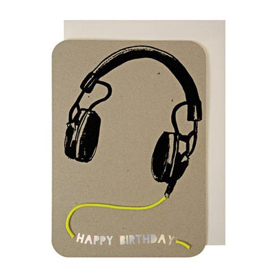 Meri Meri - Headphones card