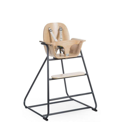 Childhome - IRONWOOD BABY HIGH CHAIR NATURAL + ANTHRACITE