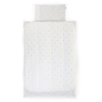 CHILDHOME - DUVET COVER+PILLOWCOVER JERSEY GOLD DOTS