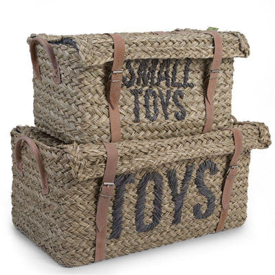 Childhome - RATTAN BASKET + BELT TOYS+ SMALL TOYS SET OF 2