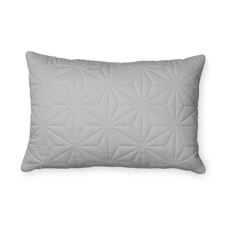 Cam Cam - Quilted Rectangular Cushion Grey