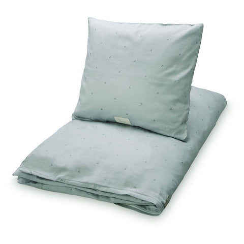 Cam Cam - Bedding Danish dots misty green