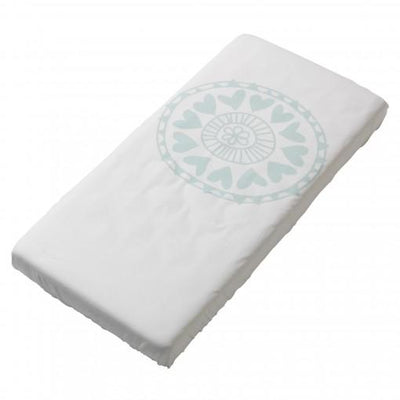 Witlof For Kids - Fitted Sheet Little Lof Mint/Offwhite