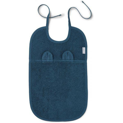 Liewood - Theo Terry Bib Mr. Bear Petrol