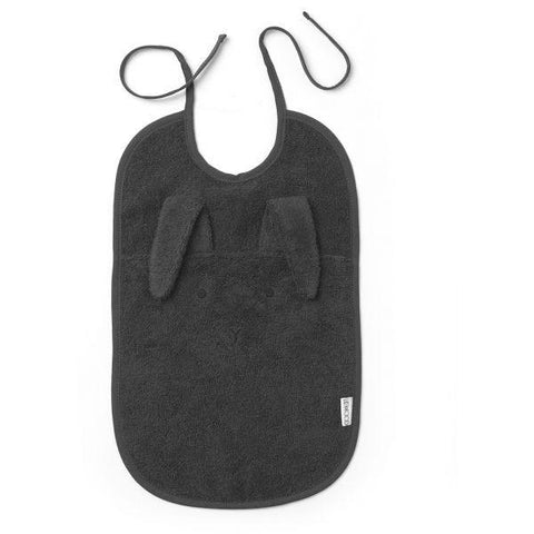Liewood - Theo Terry Bib Rabbit Dark Grey