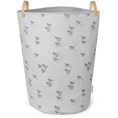 Liewood - Ann Fabric Basket Paperplane Dumbo Grey