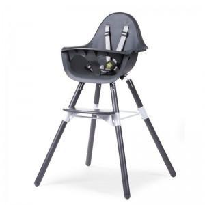 Childhome - EVOLU 2 CHAIR ANTHRACITE 2 in 1 + BUMPER