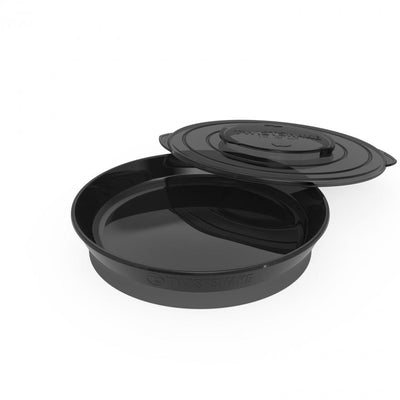 Twistshake - Plate and Cover Black