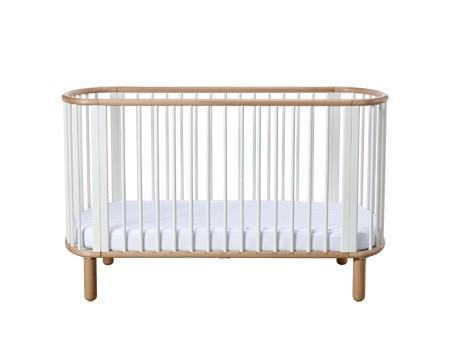 Flexa - 5 in 1 Baby bed - Clear lacquer
