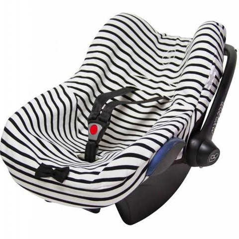 House of Jamie - Car Seat Cover Breton + Black & Stone