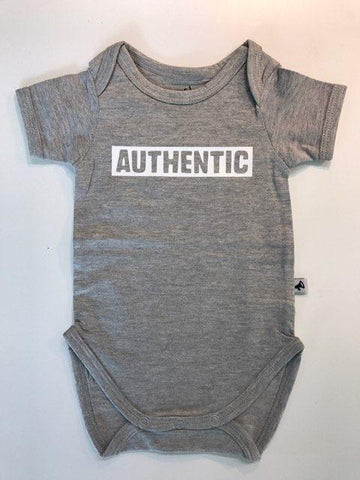 Newborn Romper Grey Authentic