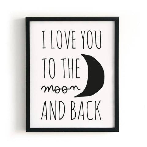 XL Poster I LOVE YOU TO THE MOON AND BACK