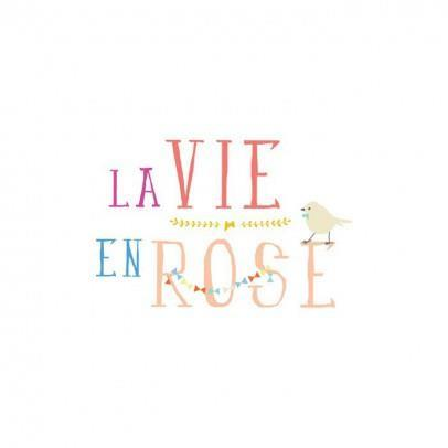 Wall decal Mimi'lou - la vie en rose