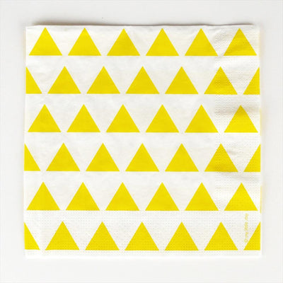 My Little Day - Yellow Triangles Napkins
