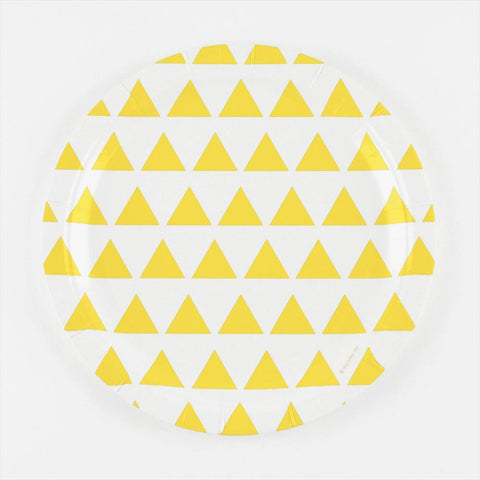 8 Plates Yellow Triangles
