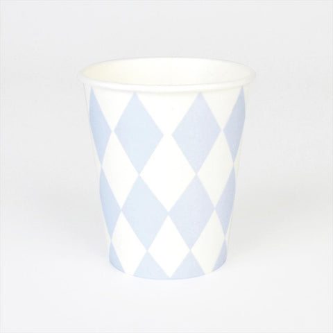8 Cups Blue Losanges