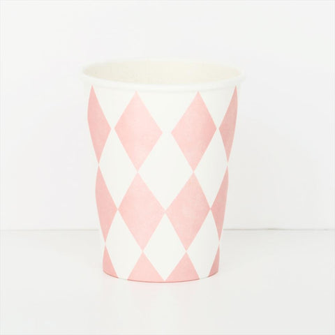 8 Cups Pink Losanges