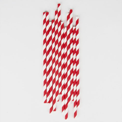 25 Straws Red Stripes