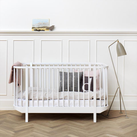 Baby Cot Oliver Furniture White