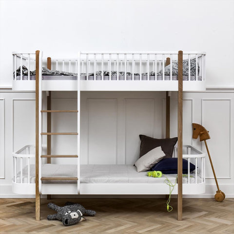 Bunk Bed Loft Oliver Furniture Oak - ladder front